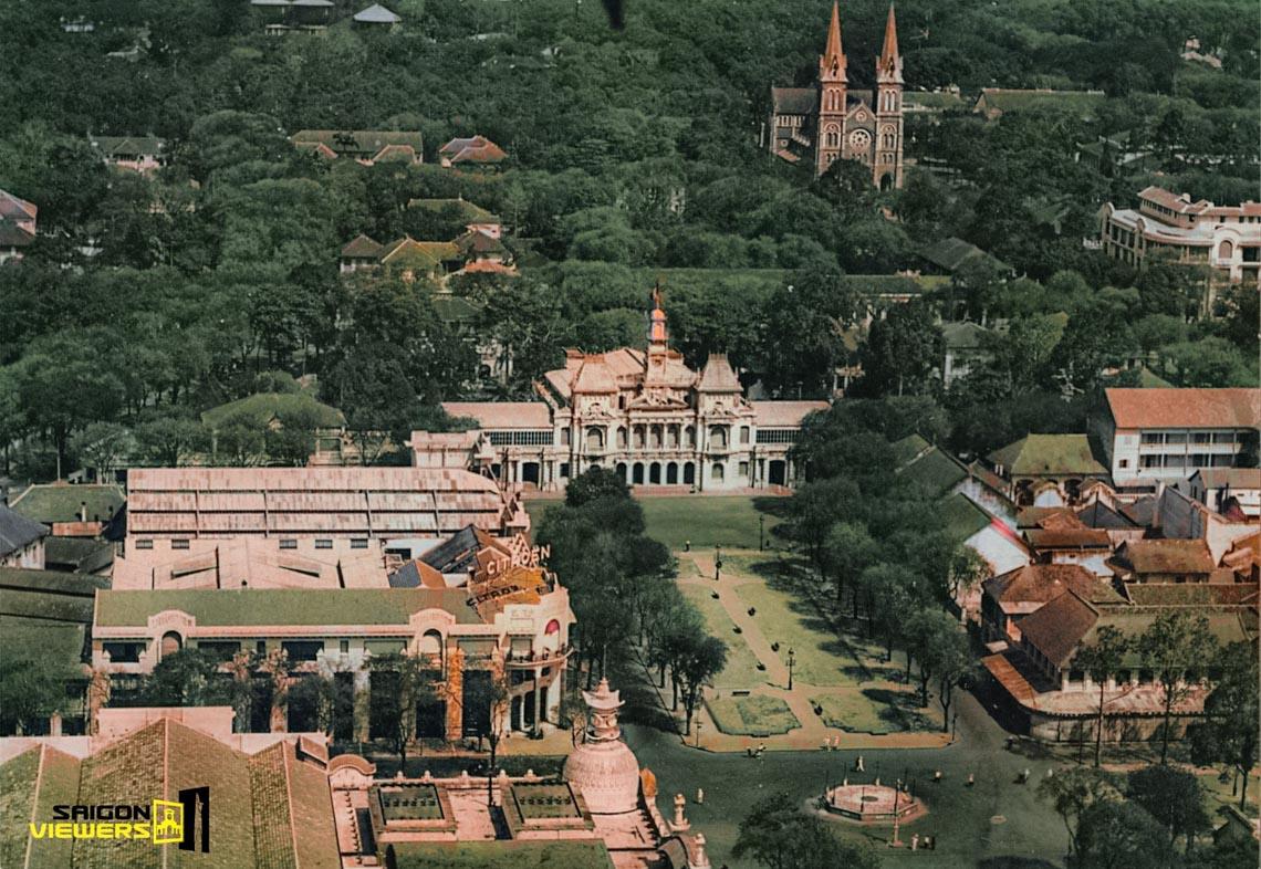 Bộ ảnh phục chế Sài Gòn 100 năm trước gây sốt vì màu xanh cây cối -3
