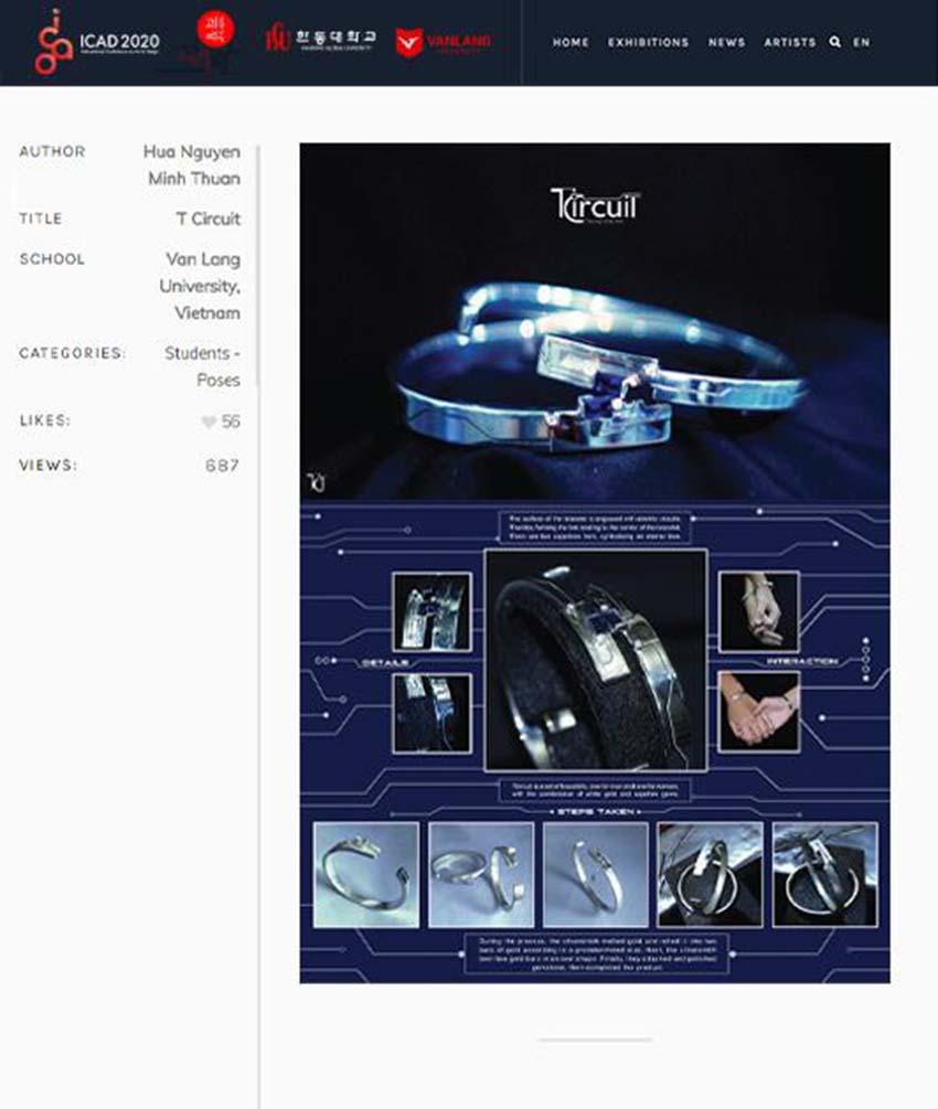 ĐH Văn Lang khai mạc 'Triển lãm thiết kế mỹ thuật quốc tế ICAD 2020' -2