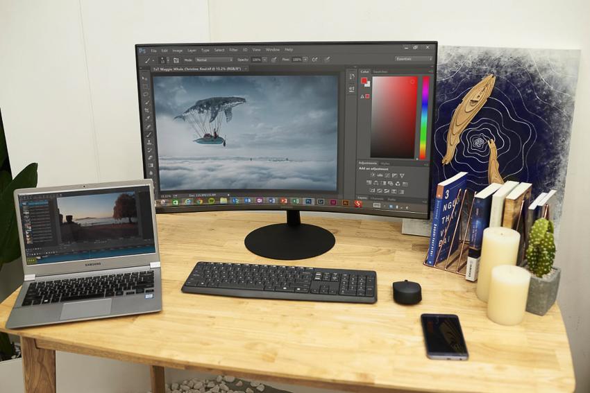 Samsung giới thiệu màn hình T55 với độ cong 1000R tối ưu cho dân văn phòng và chơi game - 3