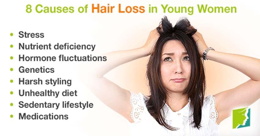 Nguyên nhân khiến mái tóc của phái đẹp rụng tả tơi -3