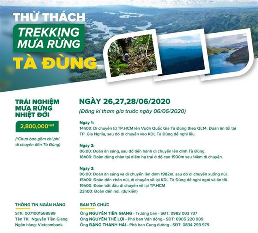 Trekking Tà Đùng, cắm trại ở độ cao 1.982 m -2