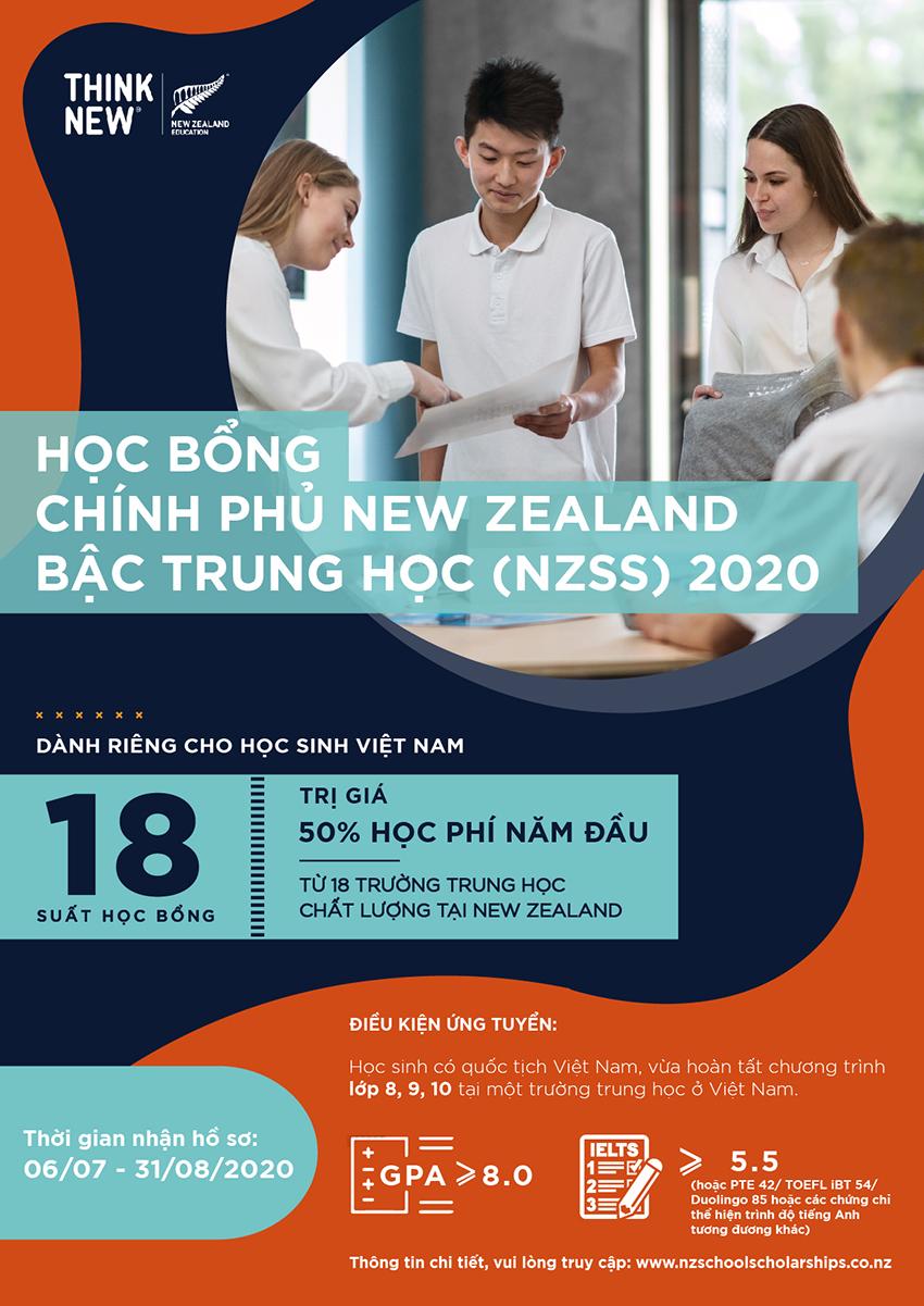 New Zealand công bố 22 học sinh xuất sắc nhận học bổng chính phủ NZSS 2020 - 3