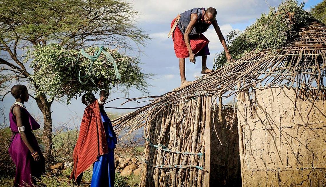 Giản dị mà bền vững lều dân gian châu Phi -10