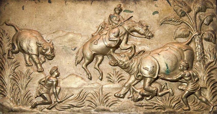 Nghệ thuật chạm rập nổi kim loại của Ấn Độ -10