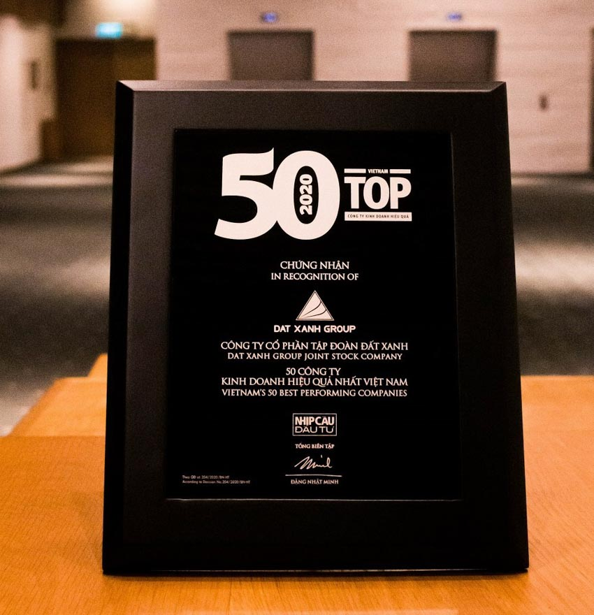 Tập đoàn Đất Xanh được vinh danh 'Top 50 công ty kinh doanh hiệu quả nhất Việt Nam năm 2019' -2