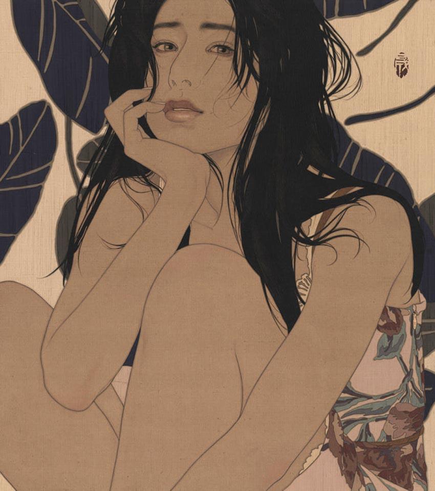 Ikenaga Yasuaki, hoạ sĩ đương đại hồi sinh dòng tranh bijinga của Nhật Bản -1