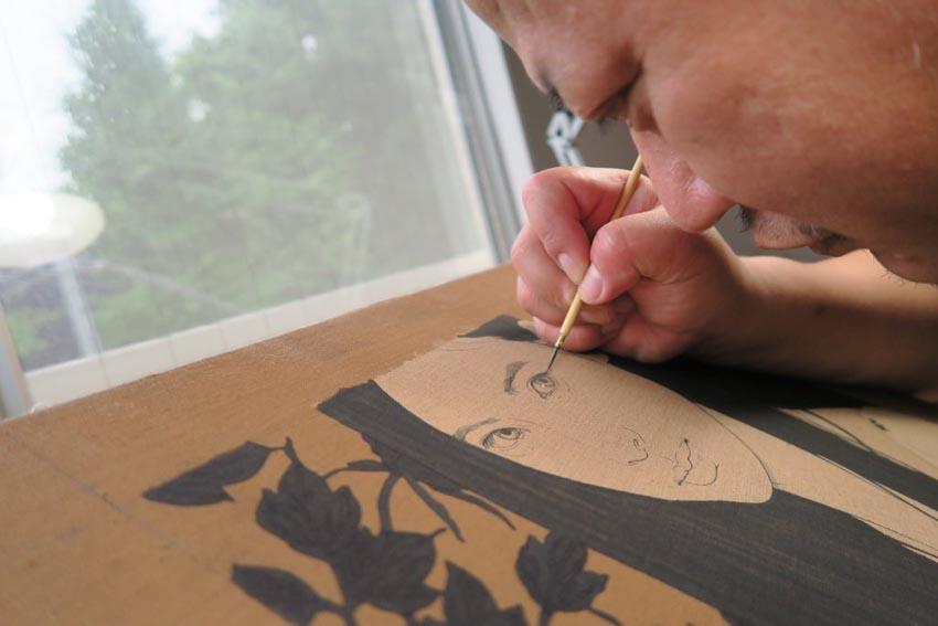 Ikenaga Yasuaki, hoạ sĩ đương đại hồi sinh dòng tranh bijinga của Nhật Bản -3
