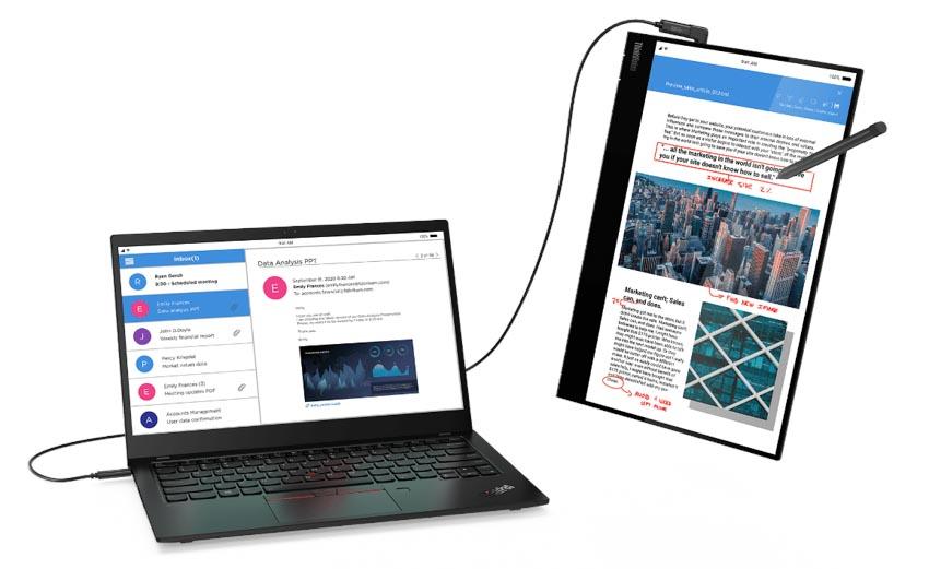 Màn hình di dộng Lenovo ThinkVision M14t truyền cảm hứng cho môi trường làm việc linh hoạt -3