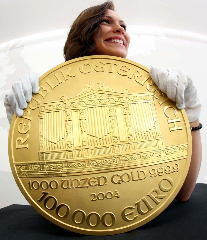 Thú vị tiền xu nhỏ và lớn nhất thế giới -9