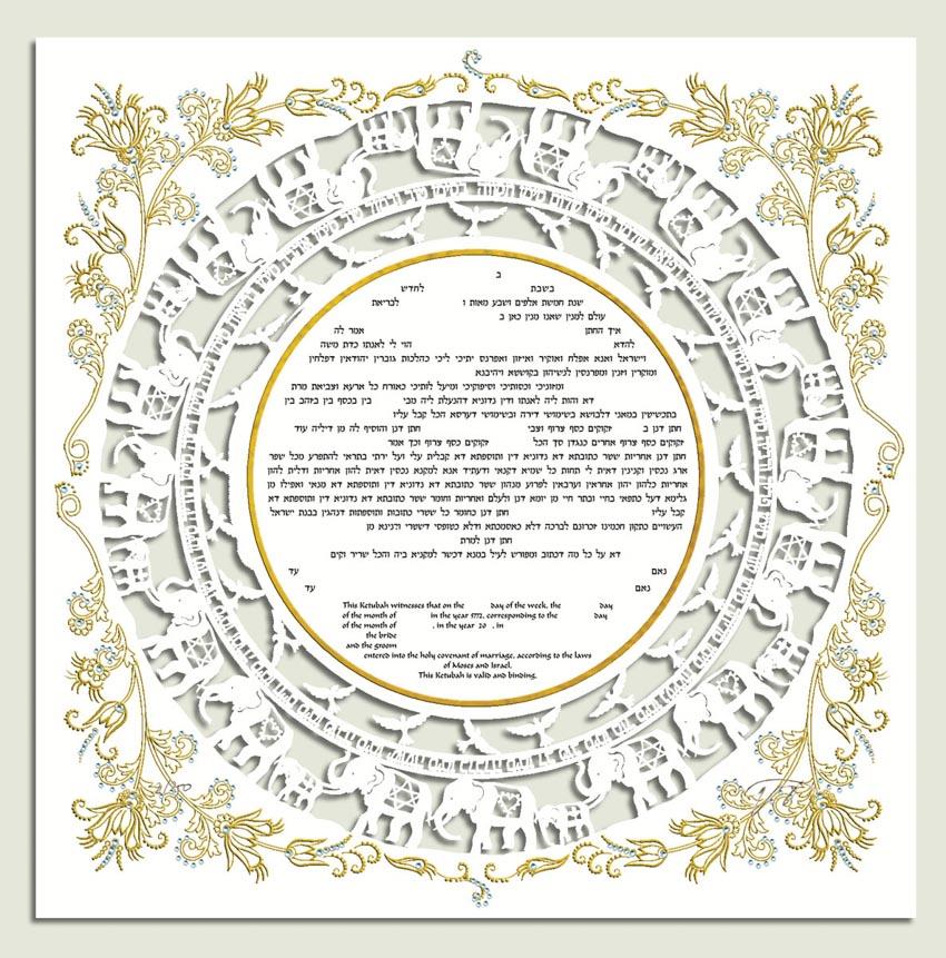 Khế ước tiền hôn nhân Ketubah -12
