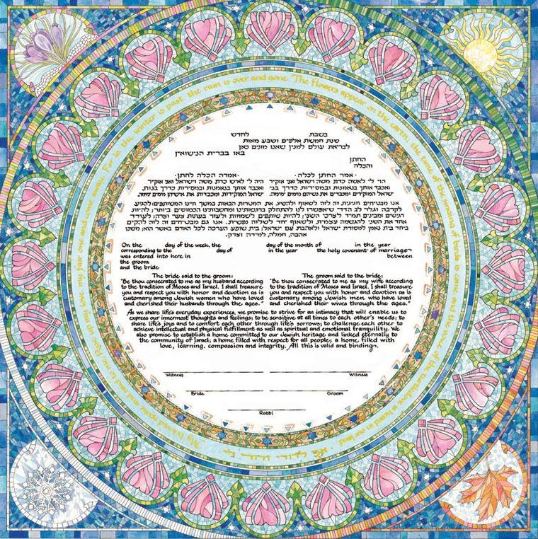 Khế ước tiền hôn nhân Ketubah -19