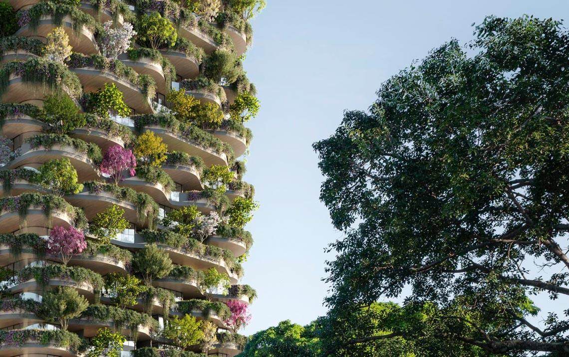 'Khu rừng thẳng đứng' bao trọn 382 căn hộ với 21.000 cây xanh -2