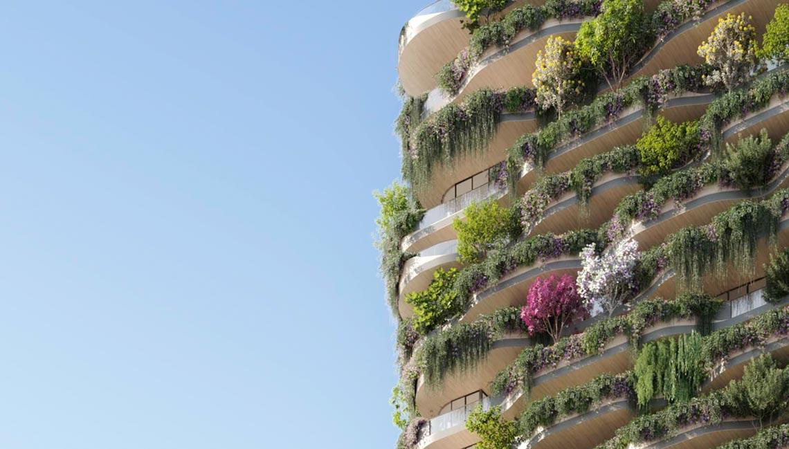 'Khu rừng thẳng đứng' bao trọn 382 căn hộ với 21.000 cây xanh -3