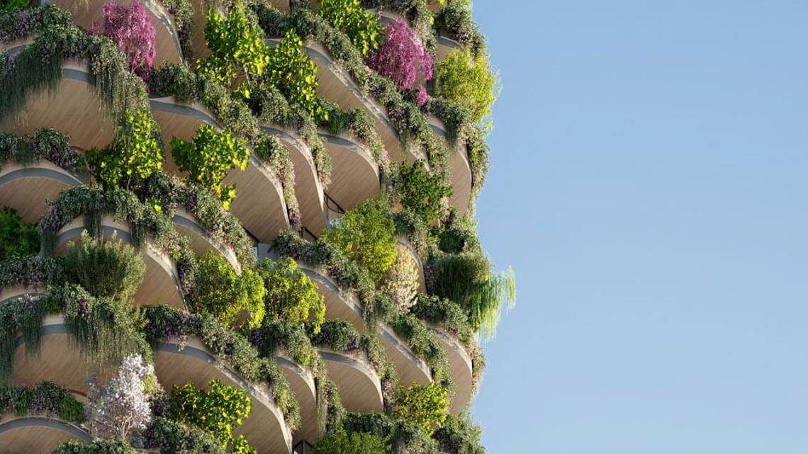 'Khu rừng thẳng đứng' bao trọn 382 căn hộ với 21.000 cây xanh -6