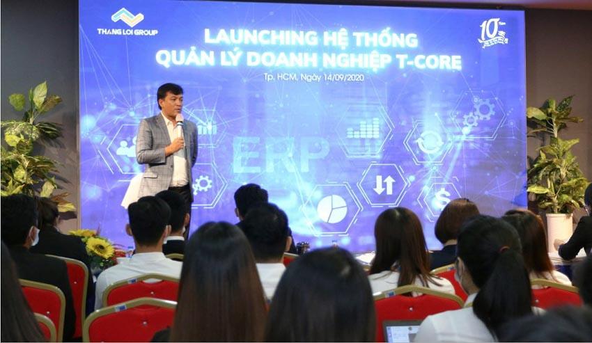 Thắng Lợi Group cho ra mắt hệ thống quản lý doanh nghiệp T - Core -2