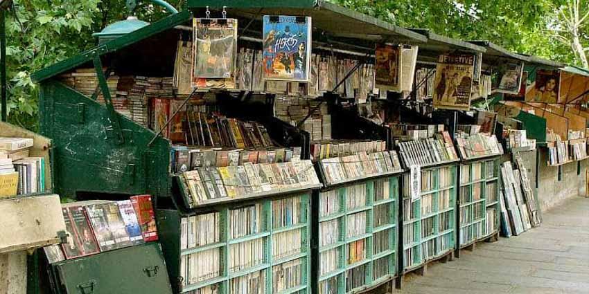Phố bán sách cũ bên bờ sông Seine -1