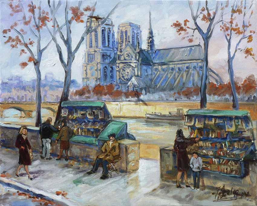 Phố bán sách cũ bên bờ sông Seine -4