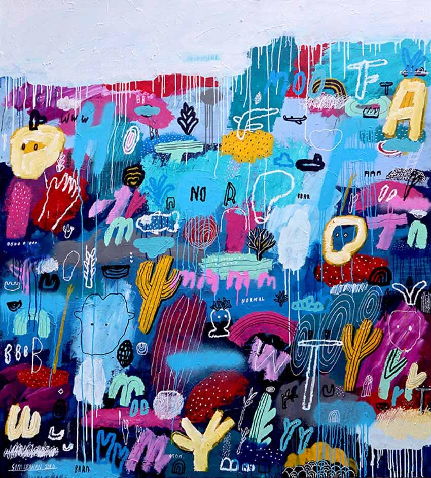 Âm nhạc khiến hội họa của Soni Irawan trở nên thăng hoa và ngẫu nhiên -4