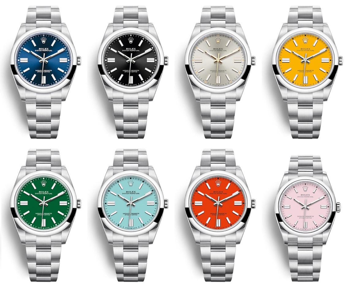 Bộ sưu tập Rolex Oyster Perpetual của năm 2020.