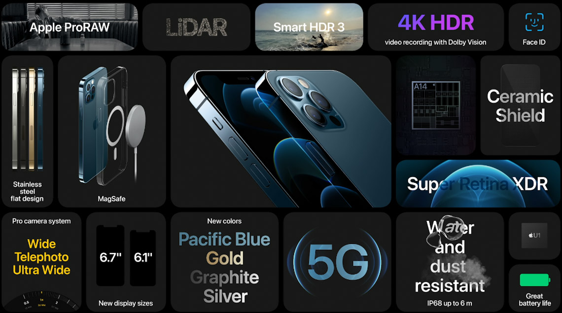 iPhone 12 Pro và iPhone 12 Pro Max ra mắt với màn hình lớn hơn, hỗ trợ 5G với nhiều tính năng mới - 1