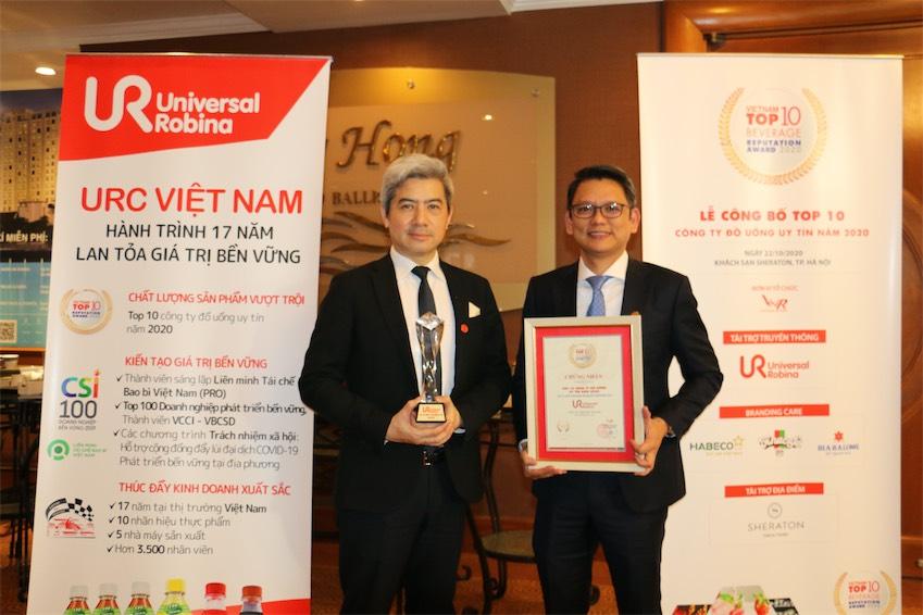 URC Việt Nam được vinh danh trong Top 10 công ty đồ uống uy tín nhất việt nam năm 2020 - 2