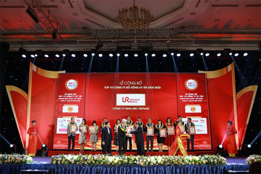 URC Việt Nam được vinh danh trong Top 10 công ty đồ uống uy tín nhất việt nam năm 2020 - 3