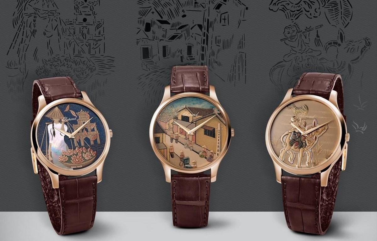 Đồng hồ cao cấp Chopard có hình ảnh cảnh vật truyền thống Hà Nội - 2