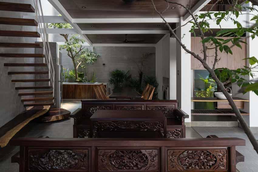 Ngôi nhà được thiết kế theo phong cách của chủ nhân: Ngoài lạnh lùng, trong ấm áp -6
