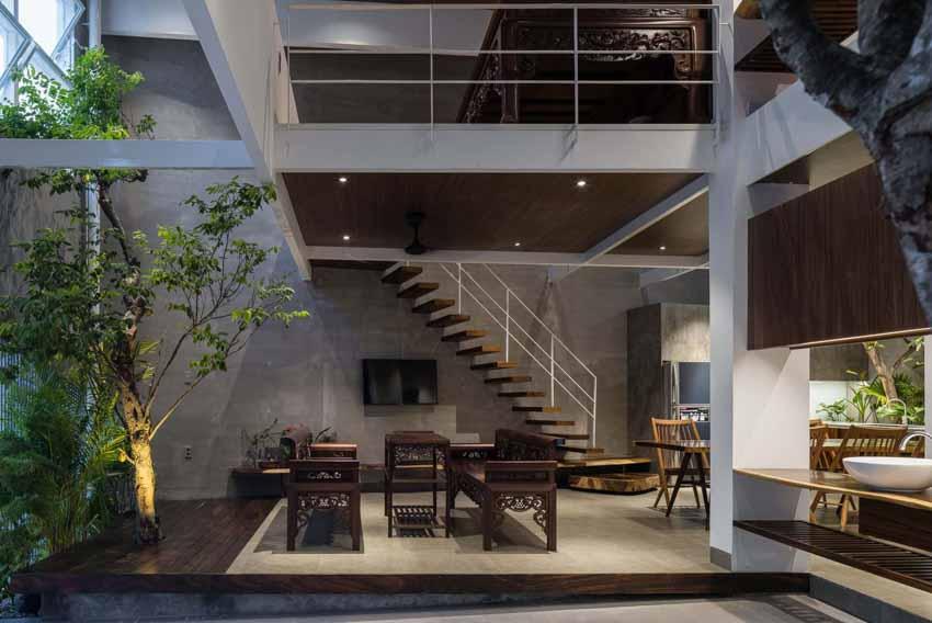 Ngôi nhà được thiết kế theo phong cách của chủ nhân: Ngoài lạnh lùng, trong ấm áp -11