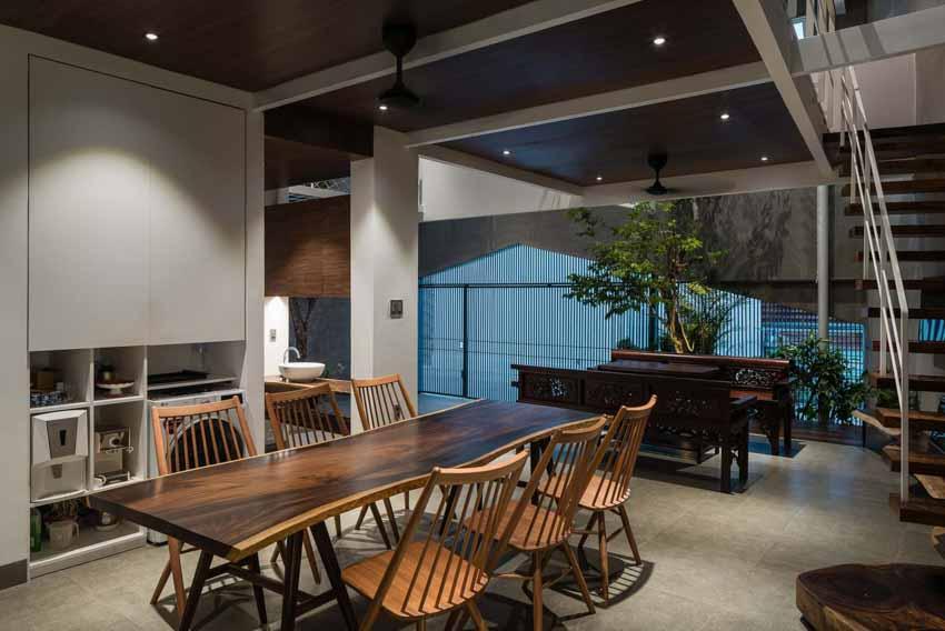 Ngôi nhà được thiết kế theo phong cách của chủ nhân: Ngoài lạnh lùng, trong ấm áp -12