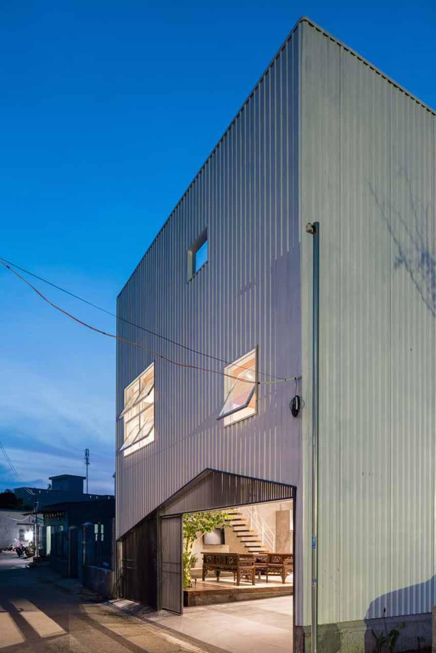 Ngôi nhà được thiết kế theo phong cách của chủ nhân: Ngoài lạnh lùng, trong ấm áp -14