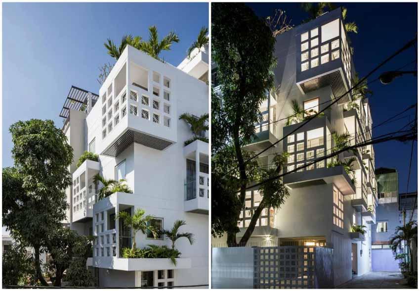 Những căn hộ ngập ánh sáng nằm gọn trong ngôi nhà 5 tầng ở TP.HCM -1