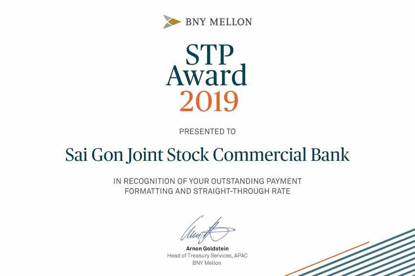 SCB nhận giải thưởng STP Award của The Bank of New York Mellon -1