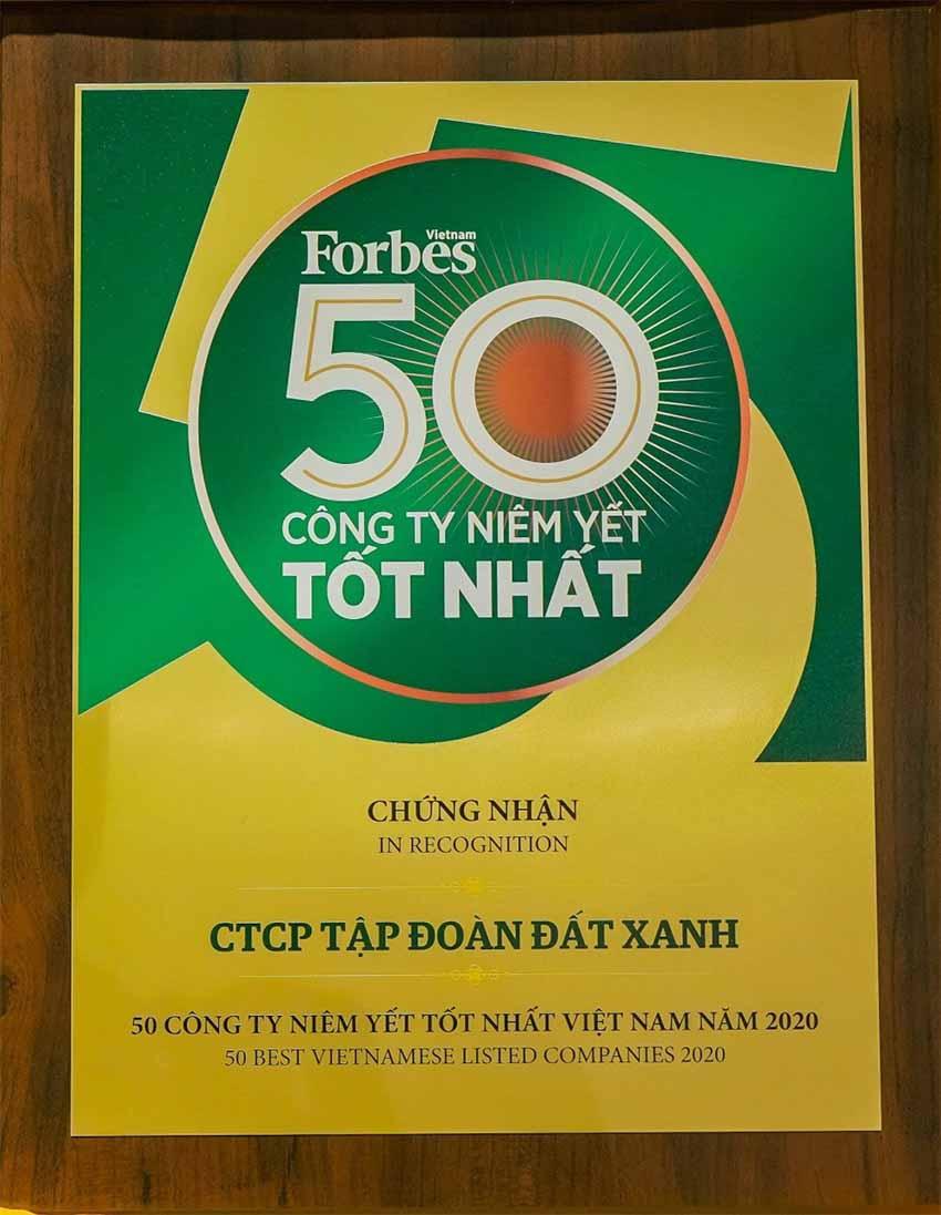 Lần thứ 8 liên tiếp, Tập đoàn Đất Xanh được vinh danh 'Top 50 công ty niêm yết tốt nhất Việt Nam 2020' -2