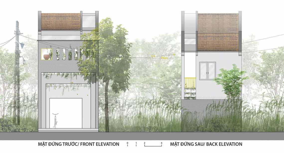 Ngôi nhà hòa quyện kiến trúc Hà Nội và Tây Nam Bộ -14