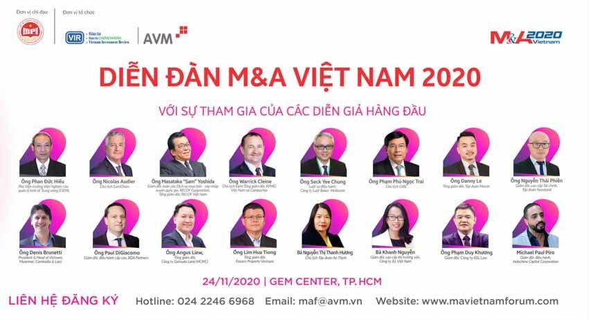 Diễn đàn M&A Việt Nam lần thứ 12 - năm 2020 -2