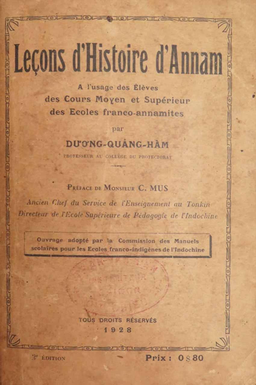 Nhà giáo Dương Quảng Hàm và 'những bài học lịch sử An Nam' -1