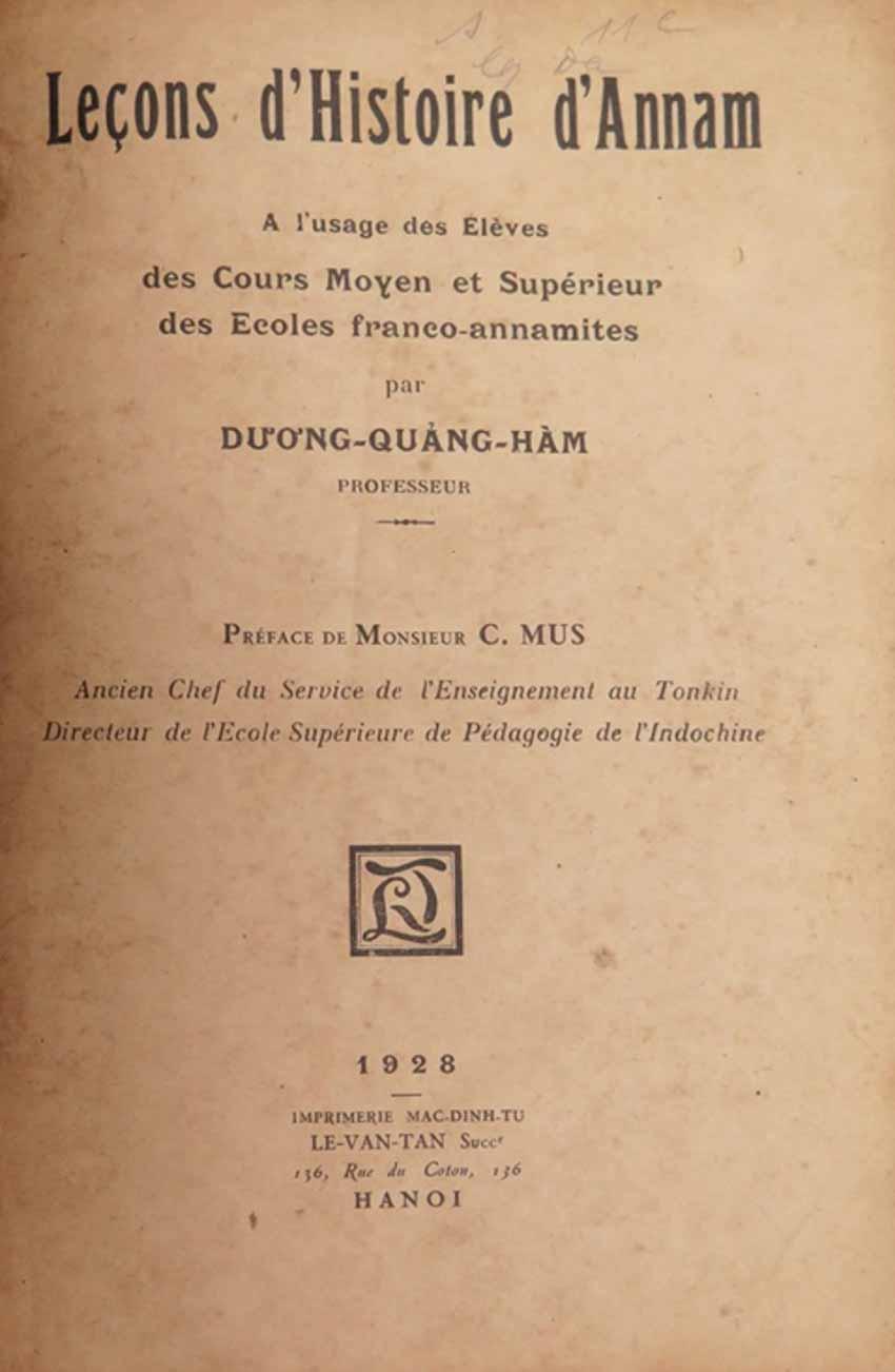 Nhà giáo Dương Quảng Hàm và 'những bài học lịch sử An Nam' -2