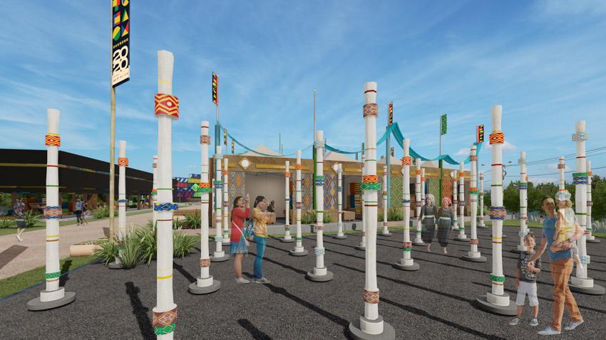 Hé lộ không gian văn hóa Thổ cẩm trên Đảo nổi thành phố Gia Nghĩa tỉnh Đắk Nông - 3