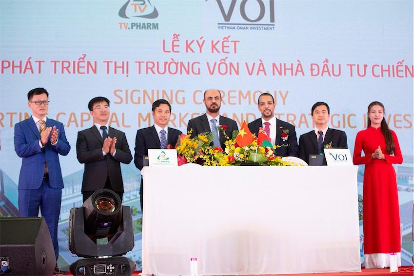 Liên doanh Quỹ đầu tư Việt Nam-Oman (VOI) đã ký cam kết đầu tư dài hạn cho Dự án Khu Dược Phẩm Công Nghệ Cao TV.PHARM