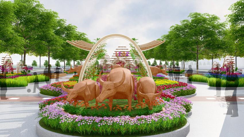 Đường hoa Nguyễn Huệ Tết Tân Sửu 2021 - 11