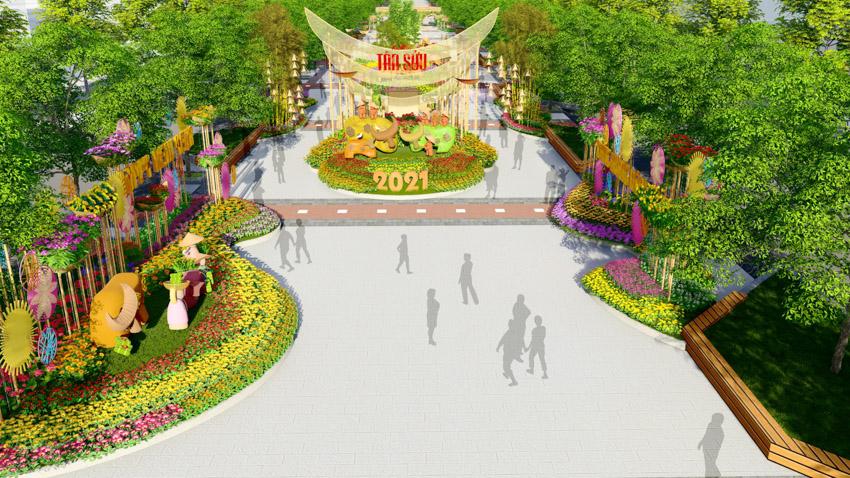 Đường hoa Nguyễn Huệ Tết Tân Sửu 2021 - 3