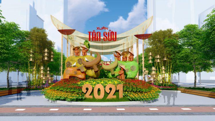 Đường hoa Nguyễn Huệ Tết Tân Sửu 2021 - 4