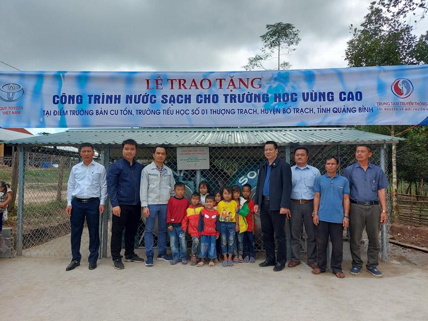 Quỹ Toyota Việt Nam cung cấp nước sạch cho các Trường Tiểu học tại tỉnh Quảng Bình - 1