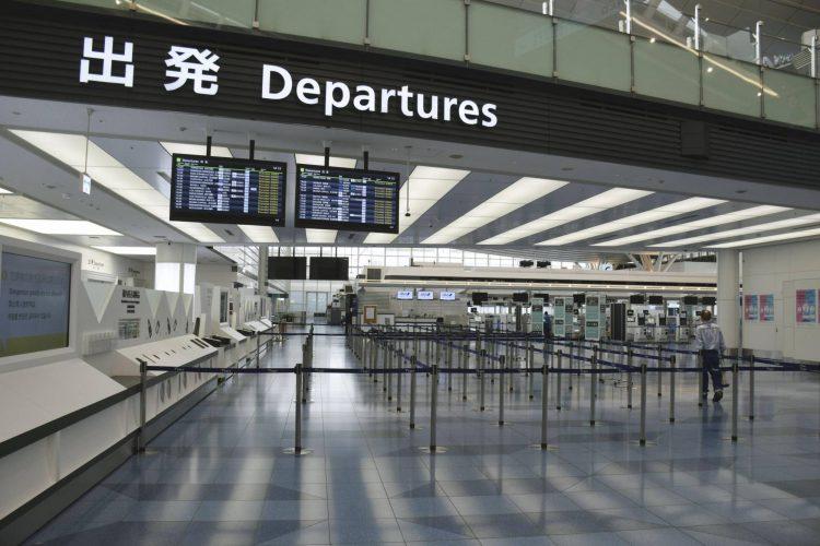 Một sảnh khởi hành quốc tế tại sân bay Haneda của Tokyo. Anh: KYODO