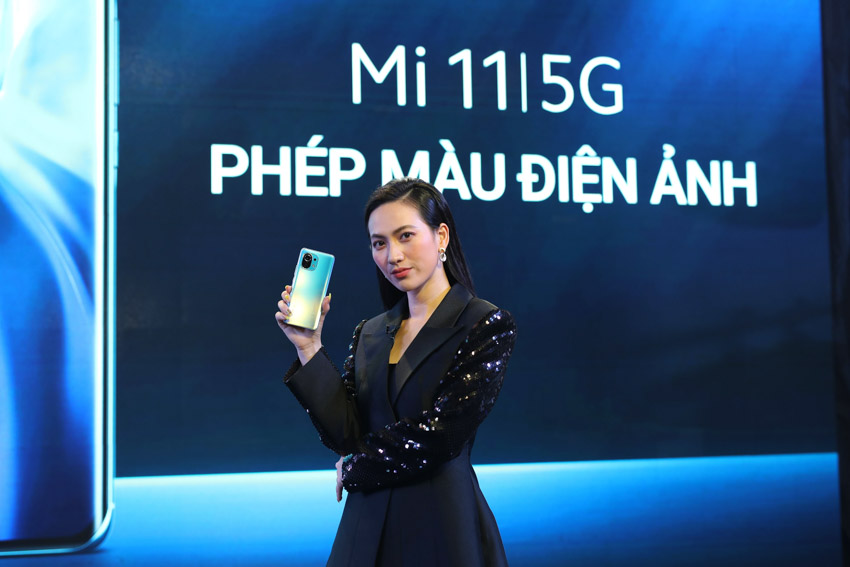 Nữ diễn viên Phương Anh Đào, khách mời đặc biệt của sự kiện ra mắt Mi 11 | 5G