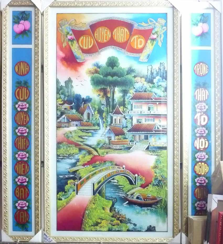 Ngày tết nói về các loại tranh kiếng thờ tổ tiên - 5