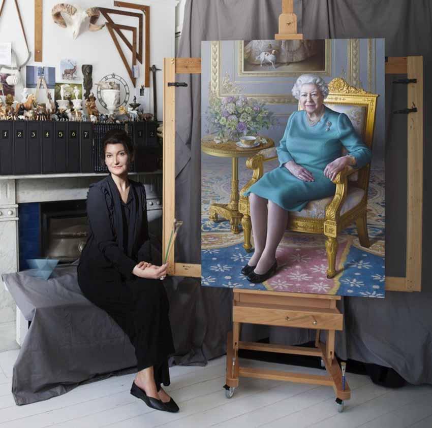 Tôi vẽ chân dung Nữ hoàng Elizabeth II - 1