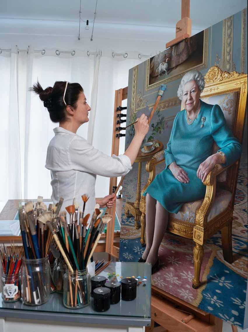 Tôi vẽ chân dung Nữ hoàng Elizabeth II - 4