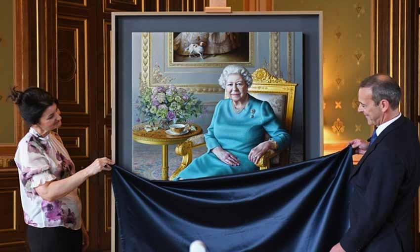 Tôi vẽ chân dung Nữ hoàng Elizabeth II - 5